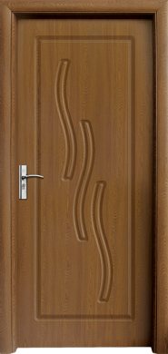 Интериорна врата Модел 014-P C - златен дъб плътна