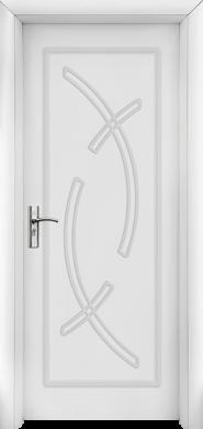 Интериорна врата Модел 056-P W - бяла плътна