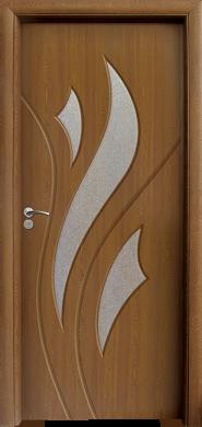 Интериорна врата Модел 033 C - Златен Дъб остъклена