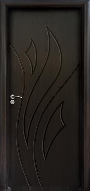 Интериорна врата Модел 033-P B - Венге плътна
