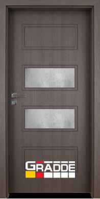 Интериорна врата модел Blomendal - Череша Сан Диего остъклена