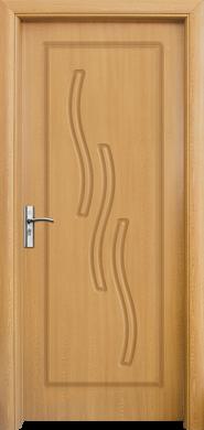 Интериорна врата Модел 014-P A - светъл дъб плътна