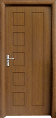 Интериорна врата Модел 048-P C - златен дъб плътна