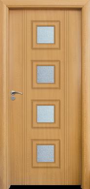 Интериорна врата Модел 021 A - Светъл Дъб