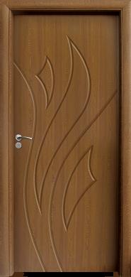 Интериорна врата Модел 033-P C - Златен дъб плътна