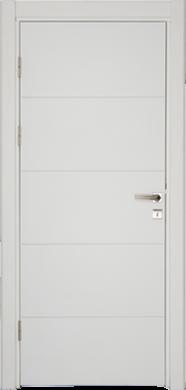 Интериорна врата Модел VDA-80 бяла с фриз
