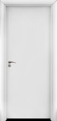 Интериорна врата Модел 030 W - бяла плътна