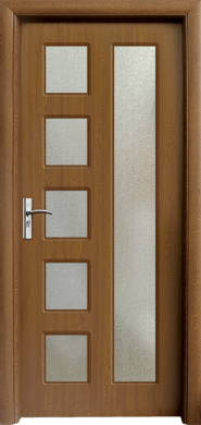 Интериорна врата Модел 048С - златен дъб