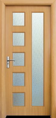 Интериорна врата Модел 048А - светъл дъб