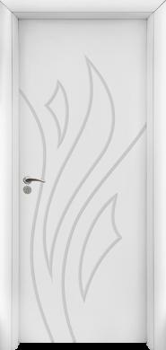 Интериорна врата Модел 033-P W - бяла плътна