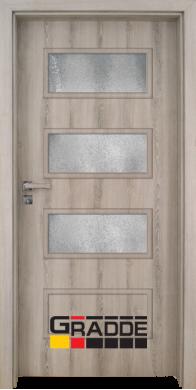 Интериорна врата модел Blomendal - Ясен Вералинга остъклена