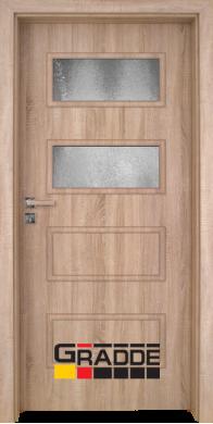 Интериорна врата модел Blomendal - Дъб Вераде остъклена