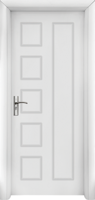 Интериорна врата Модел 048-P W - бяла плътна