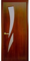 Интериорна врата Модел Камея Златна елха. Моделът включва: крило, каса, 2 комплекта раздвижни первази, брава, 3 бр. панти тип