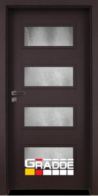 Интериорна врата модел Blomendal - Орех Рибейра остъклена