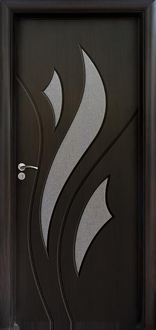 Интериорна врата Модел 033 B - Венге остъклена