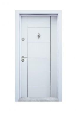 Входна врата Модел T-102 бяла