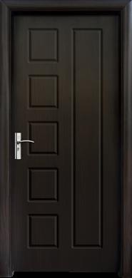 Интериорна врата Модел 048-P B - венге плътна