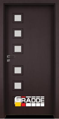 Интериорна врата Модел Reichsburg - Орех Рибейра остъклена