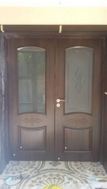 Интериорна двукрила врата цвят Кестен - оферта при запитване