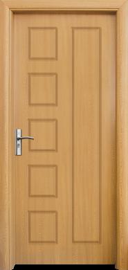 Интериорна врата Модел 048-P A - светъл дъб плътна